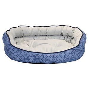 Top Paw Hexagon Pattern Odor Reducing Cuddler Bed
